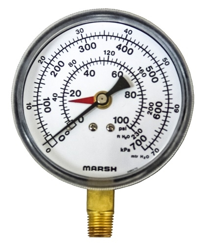 Pressure Gauge 100 Psi 700 Kpa Compound