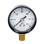 "0-60"" HG GAUGE, 2"" DIAL FOR MANHOLE VACUUM TESTERS"